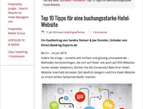 Top 10 Tipps für eine buchungsstarke Hotel-Website