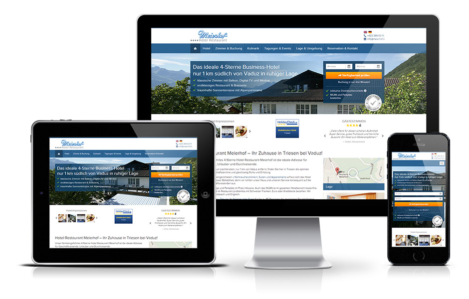 Responsive Design Hotel Website BookingMagnet